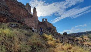 Las lluvias derrumban la entrada al castillo de Zorita de los Canes