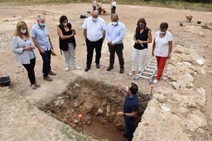La campaña de investigación destapa en el yacimiento de Noheda un gran edificio de 800 metros cuadrados