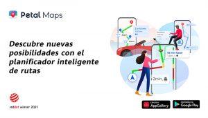 Petal Maps celebra su victoria en los Red Dot Awards junto con el lanzamiento de nuevas funciones