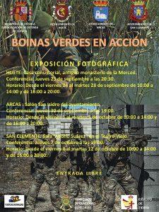 Huete, Arcas y San Clemente podrán disfrutar de una exposición fotográfica sobre Boinas Verdes en Acción
