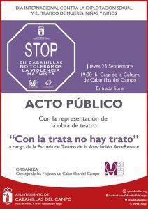 Teatro en Cabanillas para concienciar contra el tráfico de mujeres y la explotación sexual