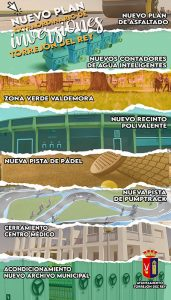 Torrejón de Rey contará con más de 820.000 euros para su programa extraordinario de inversiones