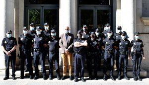El subdelegado del Gobierno en Cuenca da la bienvenida a los 12  agentes de la Policía Nacional que se incorporan a la Comisaría Provincial
