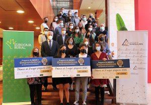 Eurocaja Rural participa en la entrega de premios del IV Programa de Apoyo a Emprendedores de Guadalajara