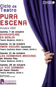 La obra 'Shakespeare en Berlín' inaugura este jueves el ciclo de teatro 'Pura escena' de Guadalajara en el Moderno