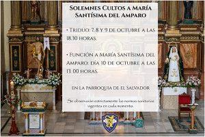 La V. H. del Resucitado celebra por primera vez en su historia cultos dedicados expresamente a María Stma. del Amparo