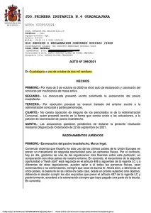 Un Juez suspende los embargos contra una vecina de Guadalajara y le perdona el pago de 270.822,72 euros
